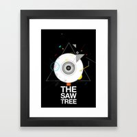 The saw tree Framed Art Print