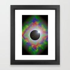 Eclipsed Eye Framed Art Print