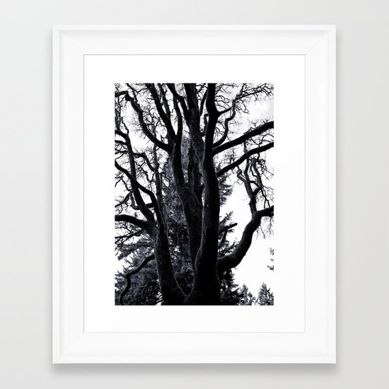 Towards the sky Framed Art Print