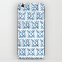Blue Tile Patterns iPhone & iPod Skin