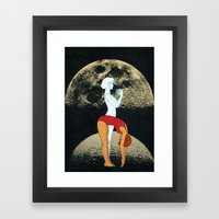 Lunar Effect Framed Art Print