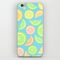 Mixed Citrus - blue iPhone & iPod Skin