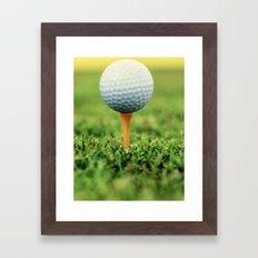Golf Ball on Tee Framed Art Print