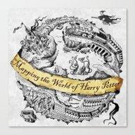 Harry's Map Canvas Print