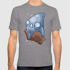 Book Ghost Mens Fitted Tee Tri-Grey SMALL