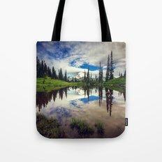 Mountain Reflections Mt Rainier Washington Tote Bag
