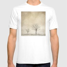Snow Bokeh Wonderland  White Mens Fitted Tee SMALL