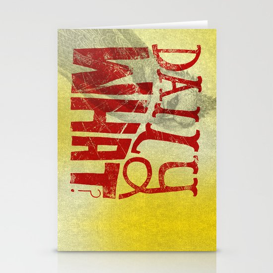 Daily What? Stationery Card