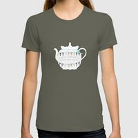 Let's Have A Cup Of Tea Womens Fitted Tee Lieutenant SMALL