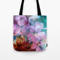 Double Flowers Tote Bag