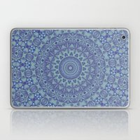 Shades of blue mandala Laptop & iPad Skin