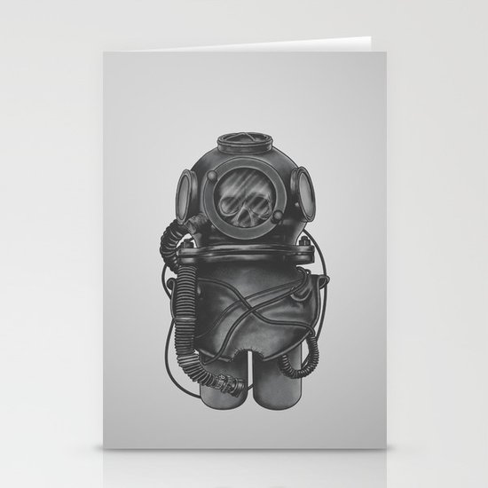 The Dead Diver Stationery Card