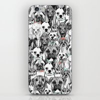 just dogs coral mint iPhone & iPod Skin