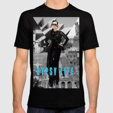 GYPSY LIFE Black Mens Fitted Tee SMALL