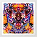 Faces In Abstract Shapes 1 Art Print