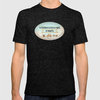 Felicidad - Happiness Mens Fitted Tee Tri-Black SMALL