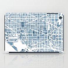Washington DC Blueprint watercolor map iPad Case