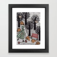Autumn in the Park Framed Art Print