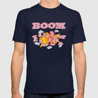 Boom, Cake  Mens Fitted Tee Navy SMALL