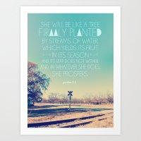 Girl version: Psalm 1: 3 Art Print