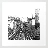 NY Train Art Print