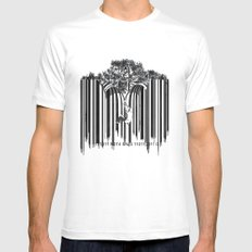 unzip the code. Mens Fitted Tee White SMALL