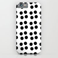 iPhone & iPod Case featuring Copijn Black & White Dots by Stoflab