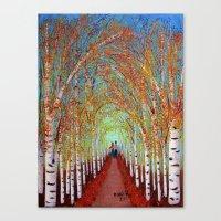 Autumn Birch  Canvas Print