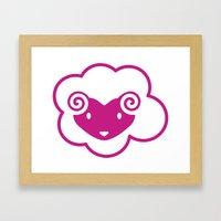 PINK SHEEP Framed Art Print