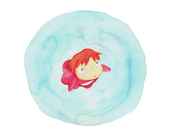 Ponyo Watercolor Canvas Print