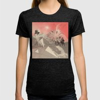 Les Femmes Womens Fitted Tee Tri-Black SMALL