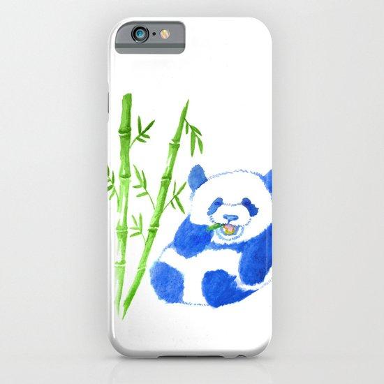 Panda eating bamboo Watercolor Print iPhone & iPod Case