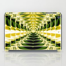 Abstract.Green,Yellow,Black,White,Lime. iPad Case