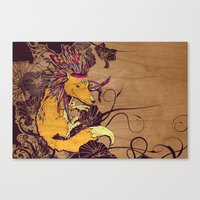 Spirit Happy Fox Canvas Print