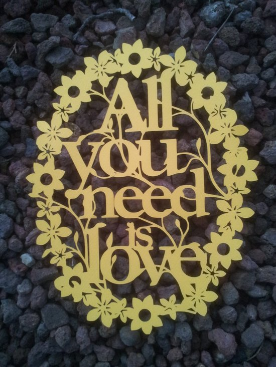 "Paper cut- ""All you need is love"" wall decor Art Print"