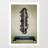 4-D Sword Art Print