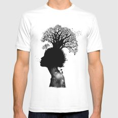 Natural Black Woman SMALL White Mens Fitted Tee