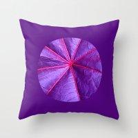 Purple Leaf Macro XIV Throw Pillow