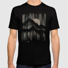 A Wolf in the Night... SMALL Mens Fitted Tee Black