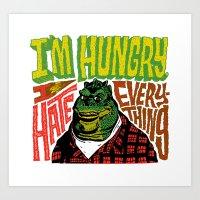 Hungry Earl Art Print