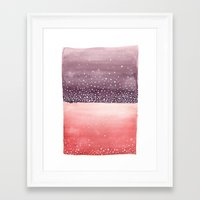 Red and Purple Abstract Framed Art Print