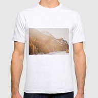 Sun Shining Through The … Mens Fitted Tee Ash Grey SMALL