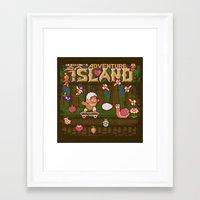 Adventure Island Framed Art Print