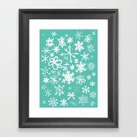 Snowflake Pond Framed Art Print
