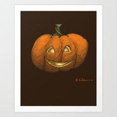 2016 Halloween Pumpkin Art Print