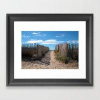 Way To The Beach 2169 Framed Art Print