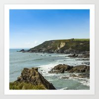 Cornishseascapes Gunwall… Art Print