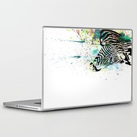zebra Laptop & iPad Skins featuring Zebra by Del Vecchio Art by Aureo Del Vecchio
