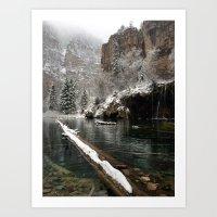 Hanging Lake, White Rive… Art Print