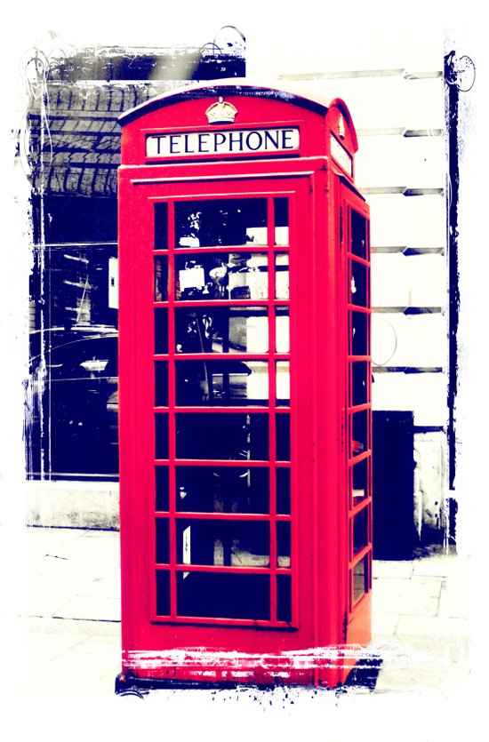 London Telephone Booth Art Print